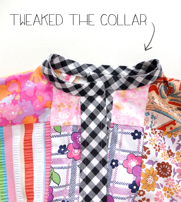 Patchwork Dress collar
