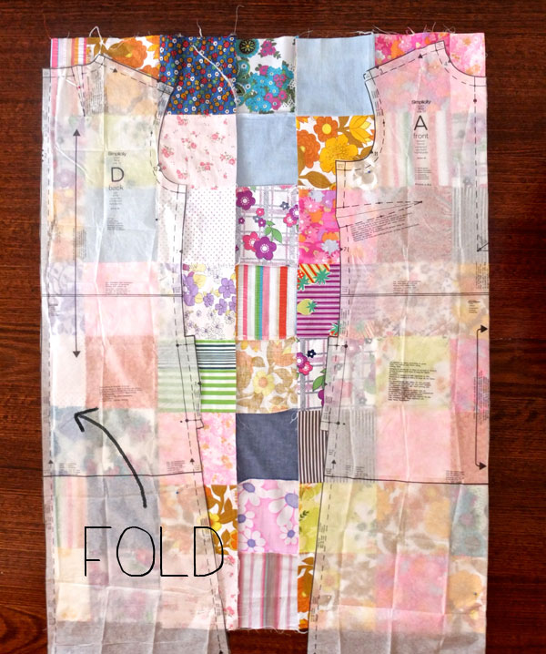 patchwork dress layout