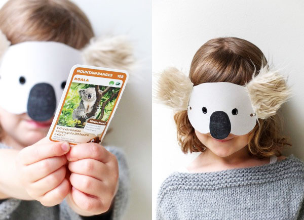 Kids Craft: Koala Mask with Template | My Poppet Makes
