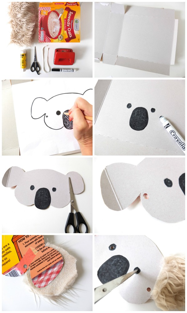 Koala mask DIY steps