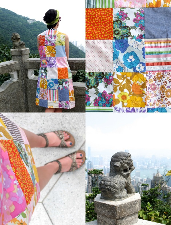 The peak hong kong - patchwork dress