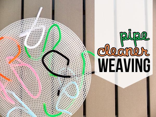 fine motor skills development - pipecleaner weaving