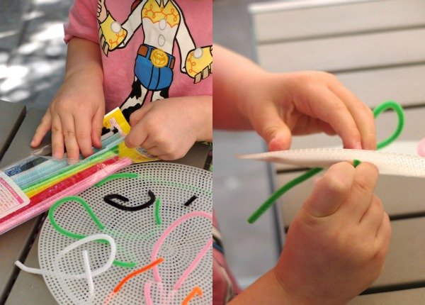 pipecleaner sewing or weaving