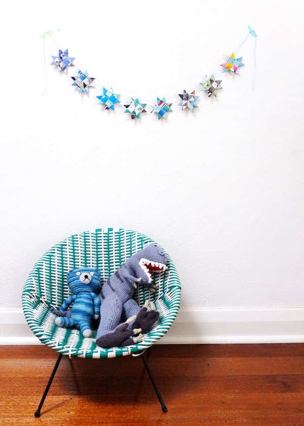 paper star garland DIY how to mypoppet.com.au