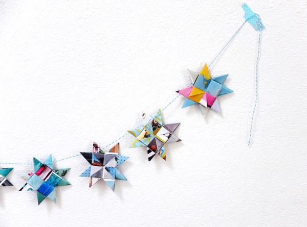 paper star garland Christmas decoration  mypoppet.com.au