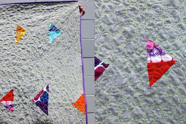 Arrow head modern quilt detail