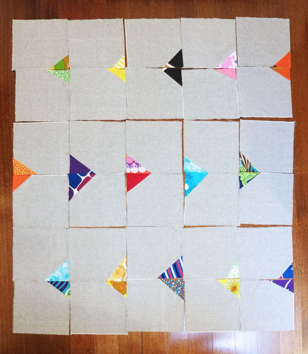 arrow head quilt layout