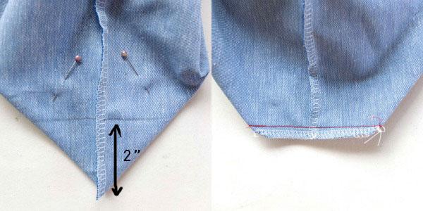 how to make square corners on tote bag