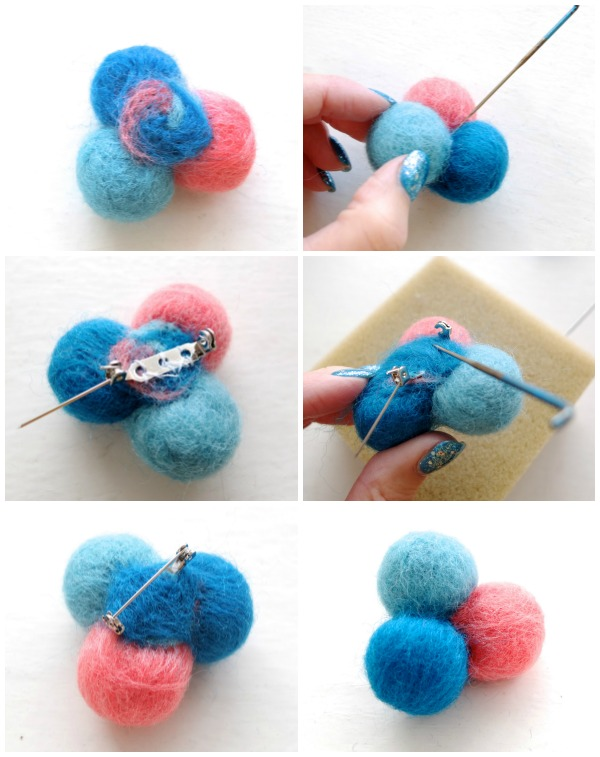 How to make a needle felted brooch steps part 2 mypoppet.com.au