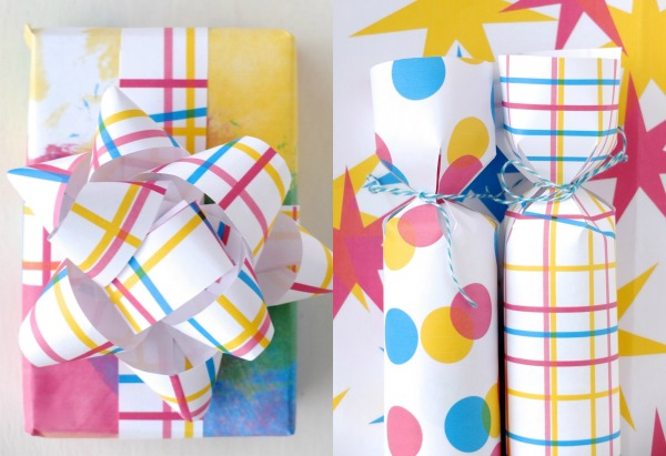 Fun gift wrapping and christmas cracker ideas with modern printable wrapping paper