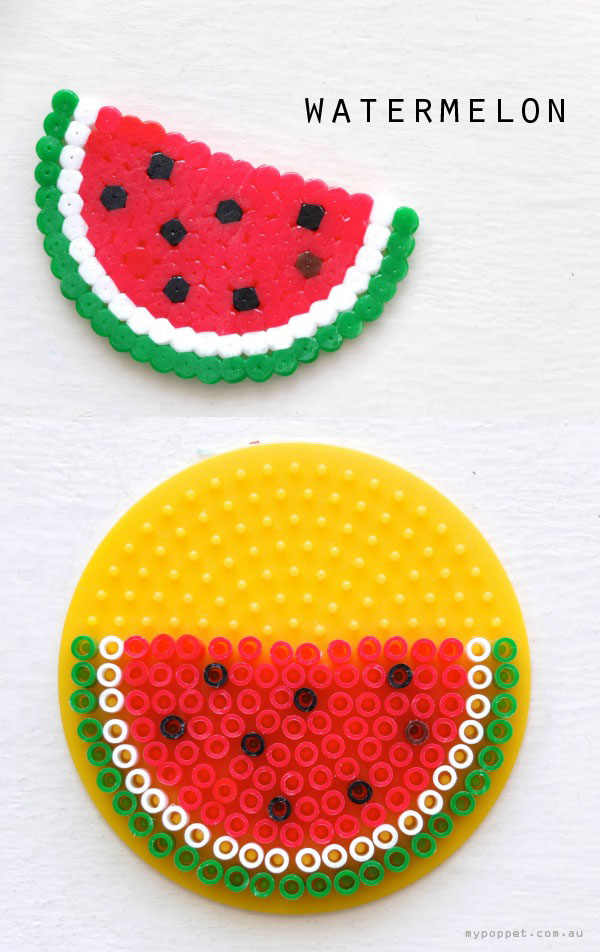 watermelon hama bead pattern crossstitch circular design mypoppet.com.au