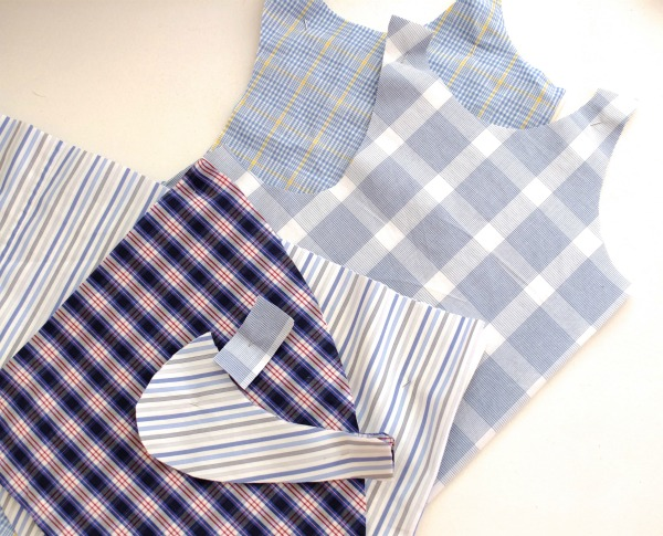 use old business shirts to make a new blouse