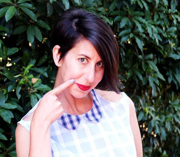 Cintia - ypoppet.com.au wearing a Meagn Nielsen design blouse