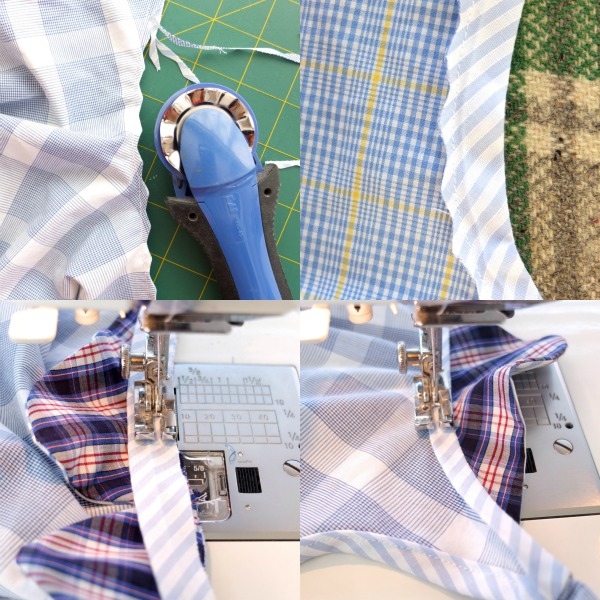 sewing tips - binding and clipping with a rotary cutting tool