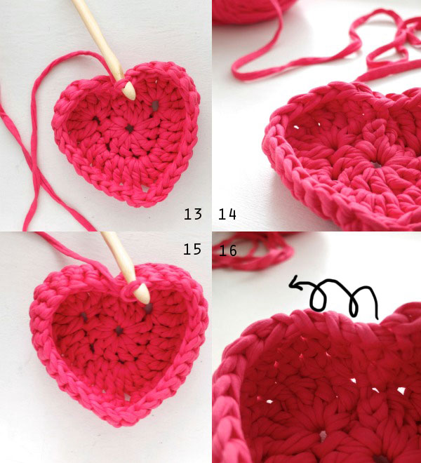 Crochet Heart Shaped Storage Baskets | My Poppet Makes