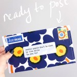 DIY envelope from a magazine