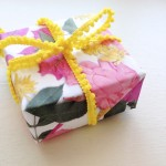 DIY Floral Wrapping Paper