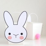 Cute bunny box with pom pom tail printable