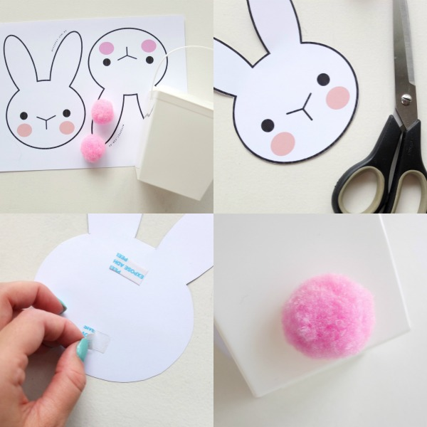 Bunny takeaway box with printable my poppet makes easter bunny basket printable craft negle Images