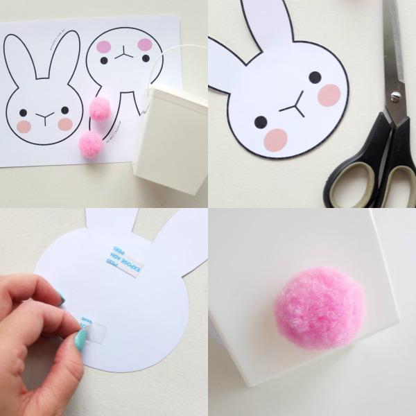 Easter Bunny Basket Printable Craft