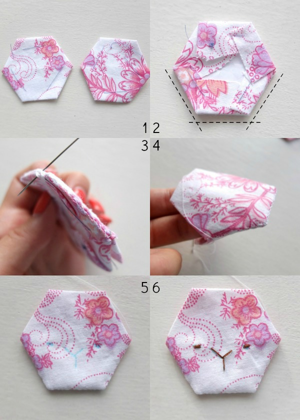 steps for making bunny face part 1