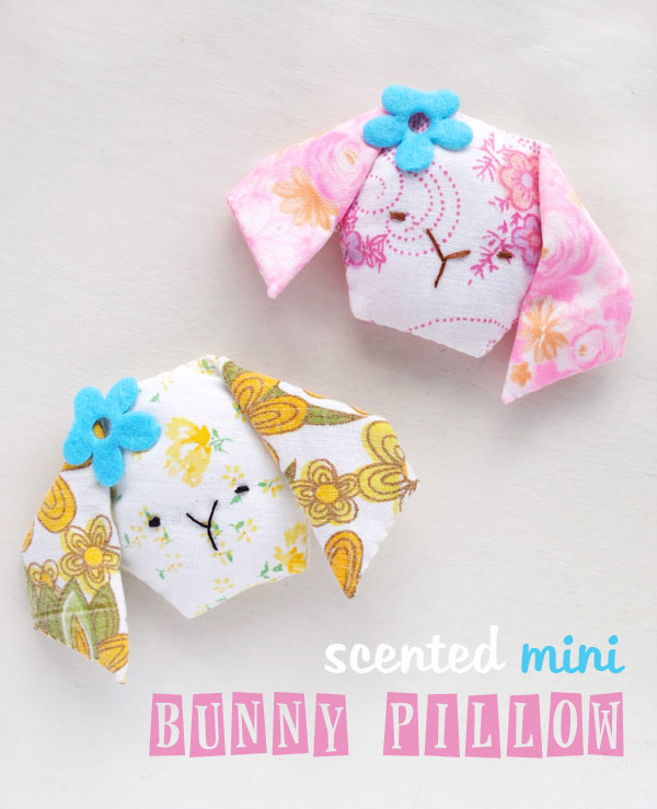 Mini bunny face pillows filled with lavender - make a lovely Easter gift mypoppet.com.au