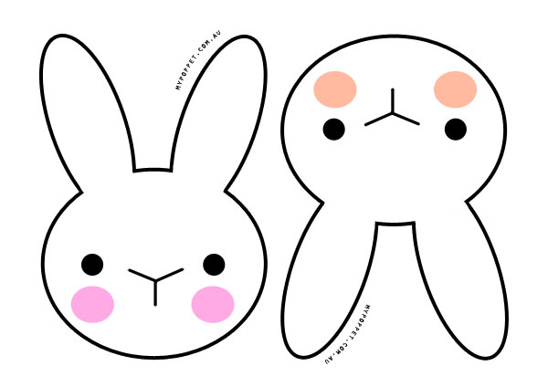 Shocking image inside bunny face printable