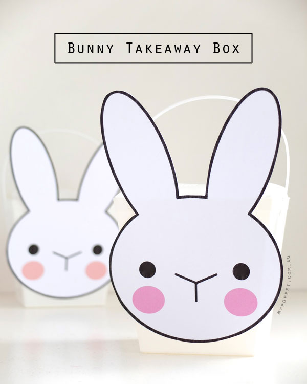 Bunny Takeaway Box with Printable | My Poppet Makes