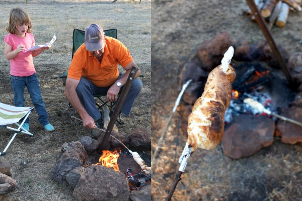making damper with a campfire