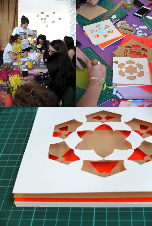 geometric paper cutting