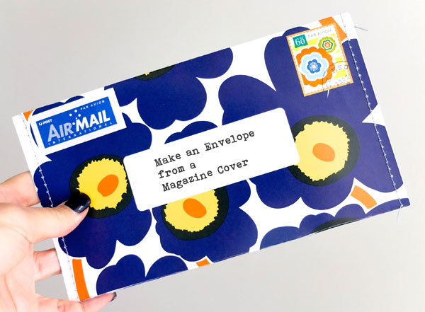 make an envelope from a magazine cover