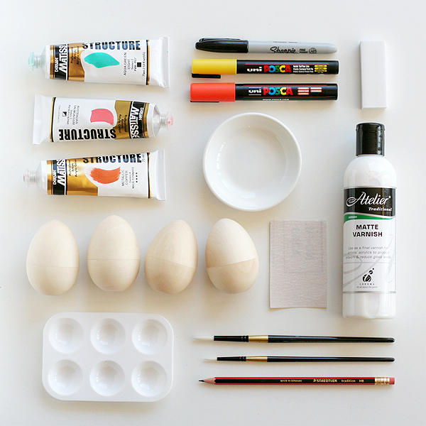 painted Easter eggs supplies