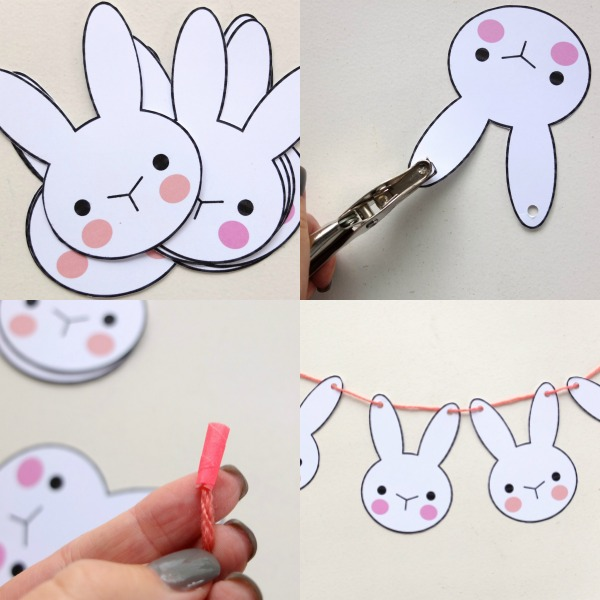 Bunny Bunting Printable Easter Craft My Poppet Makes