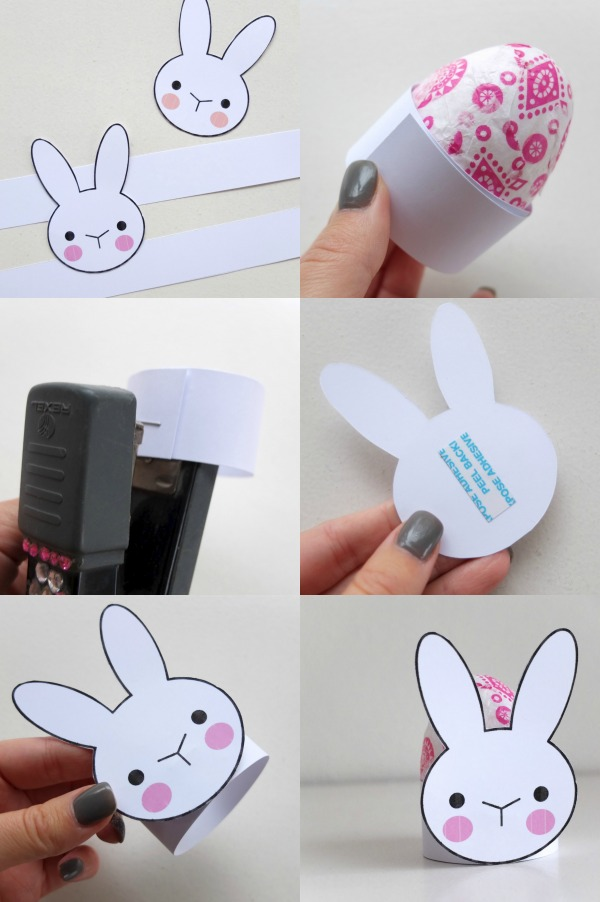 bunny egg cup DIY instructions