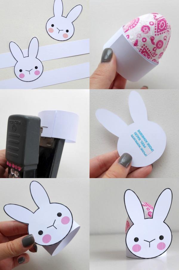 bunny egg cup DIY instructions