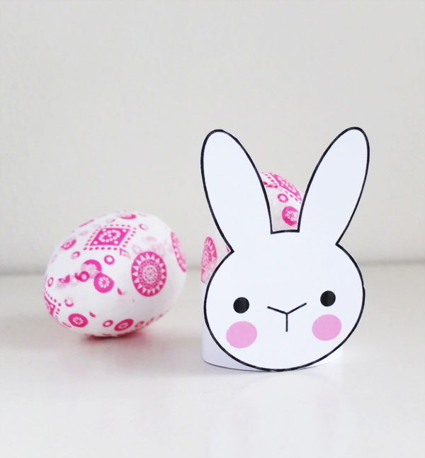Cute Bunny Rabit egg cup printable