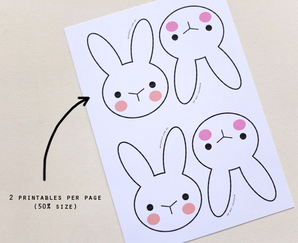 bunny head easter printable
