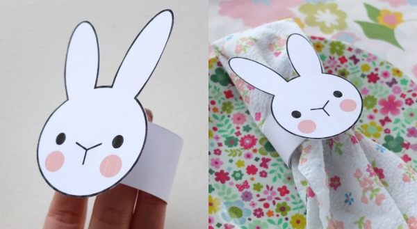 Napkin ring instructions printable for Easter