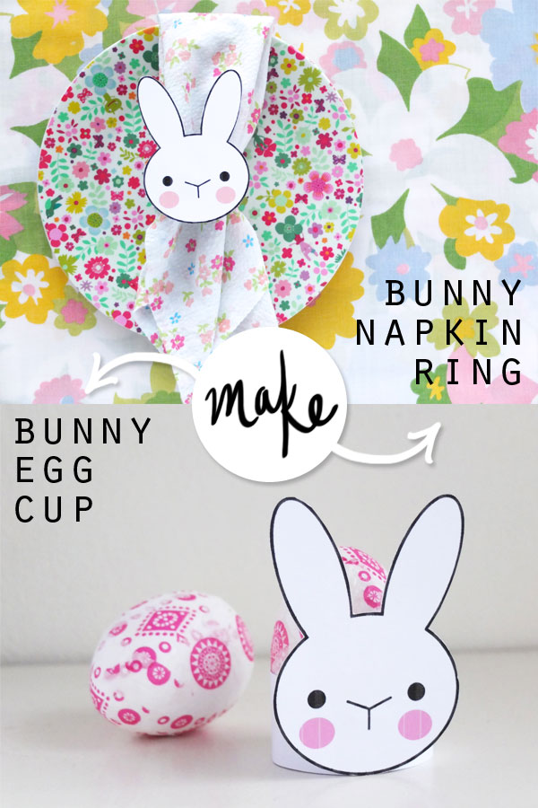 Egg cup and napkin ring DIY