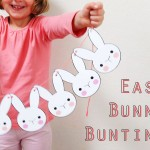 DIY bunny rabbit bunting Easter printable mypoppet.com.au