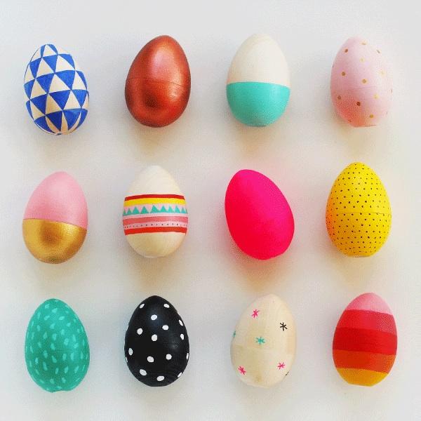 Handpainted Wooden easter eggs DIY