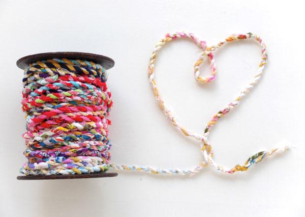 cute fabric twine heart