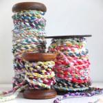 fabric rope on vintage spools