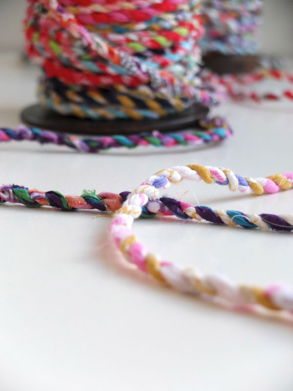 close up of fabric rope