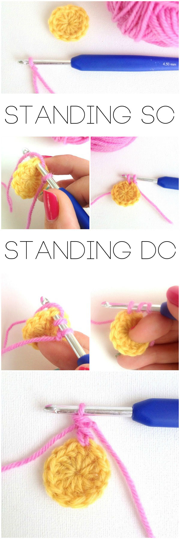 standing stitches crochet