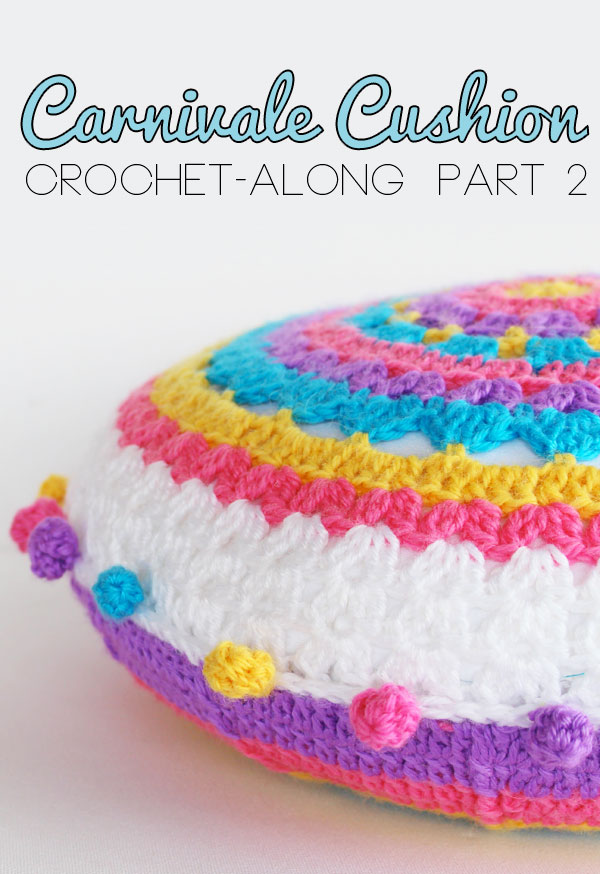 carnivale cushion crochet along round 1 to 7