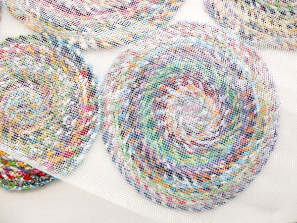 Adding underlay to rag rug