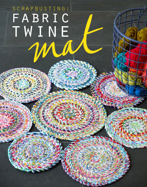 Fabric Twine Spiral Mat My Poppet Makes