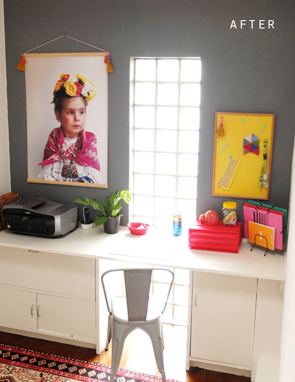 after office makeover from officeworks