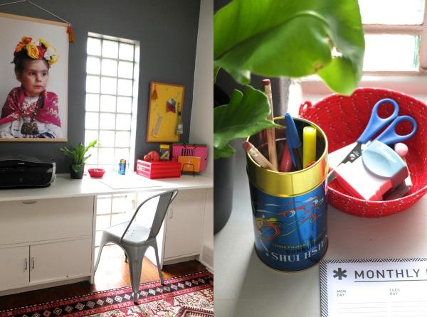 vintage desk style boho